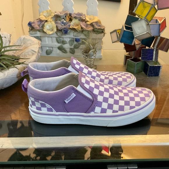 Vans Shoes   Vans Kids Checkerboard Slip On Sneak 35   Poshmark